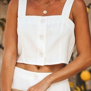 VICI Button down crop top